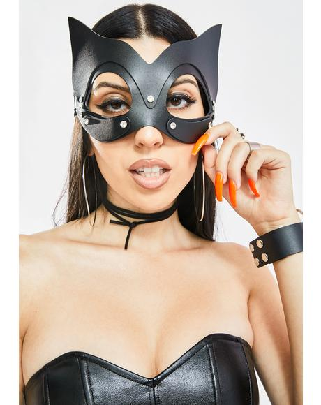 Madame Kitty Vegan Leather Mask