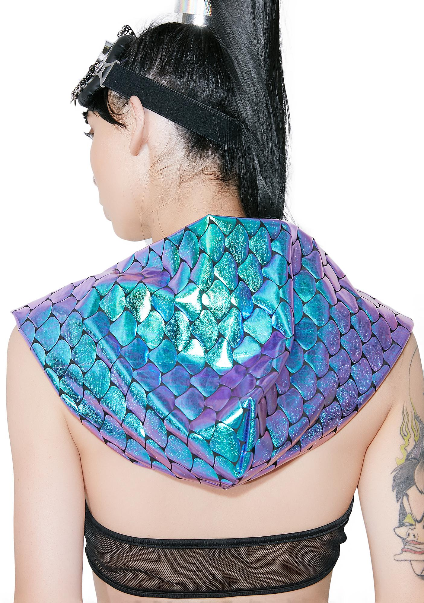 The Lyte Couture Reversible Mermaid Hood