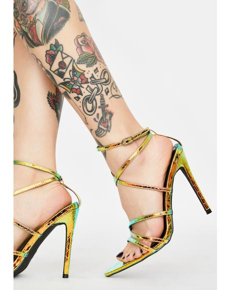 Mermaid Baddie Alert Strappy Heels