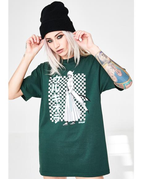 X Bleach Green Ulquiorra Graphic Tee
