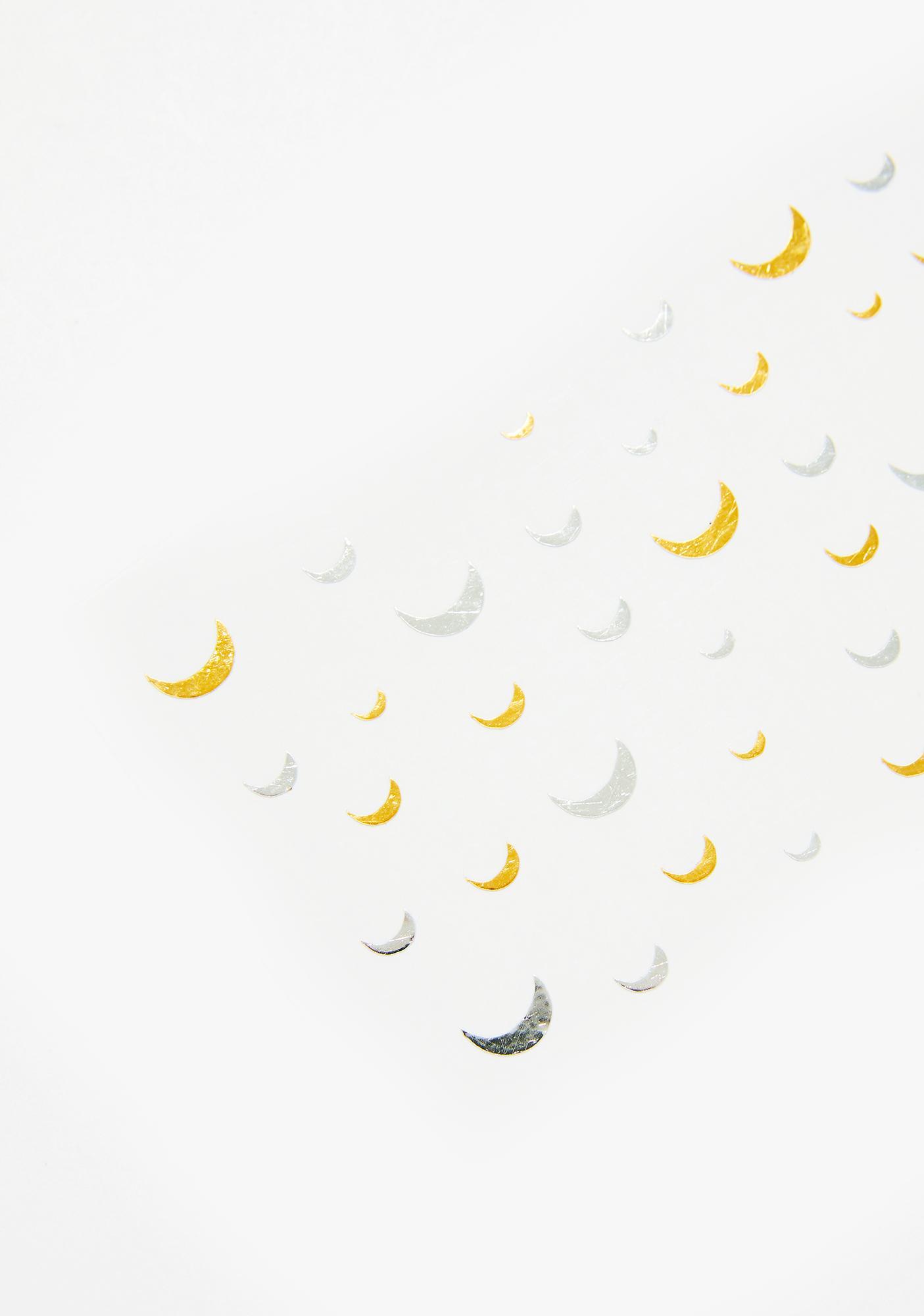 Magic & Manifest Gold N Silver Moon Face Sparkles
