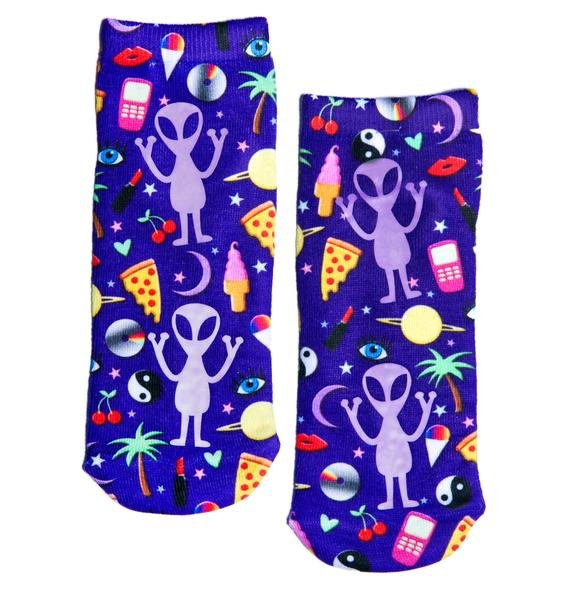 Electric Cosmos Ankle Socks