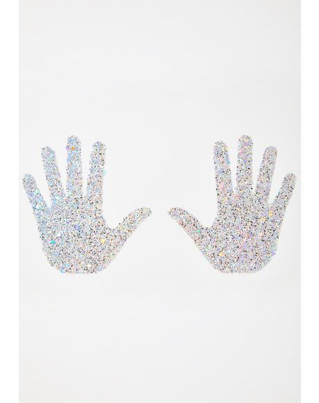 Gettin' Handsy Glitter Pasties