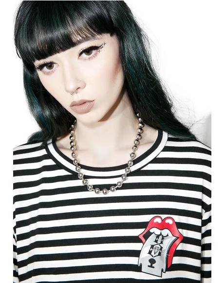 Sharp Tongue Stripe Tee