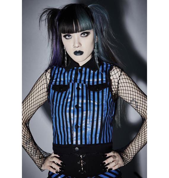 Widow Ghost Town Rebellion Striped Vest