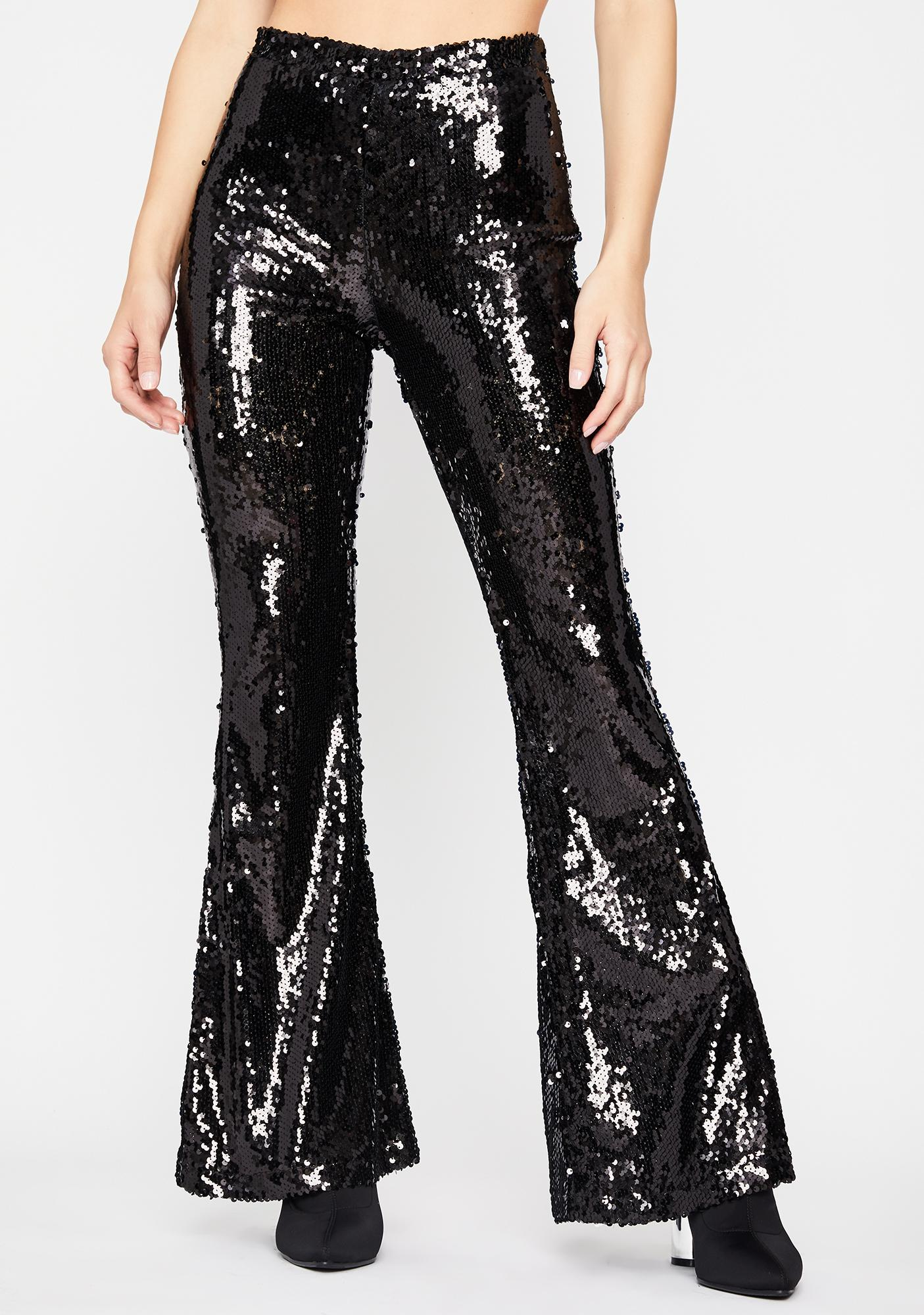 Wicked Superficial AF Sequin Flares