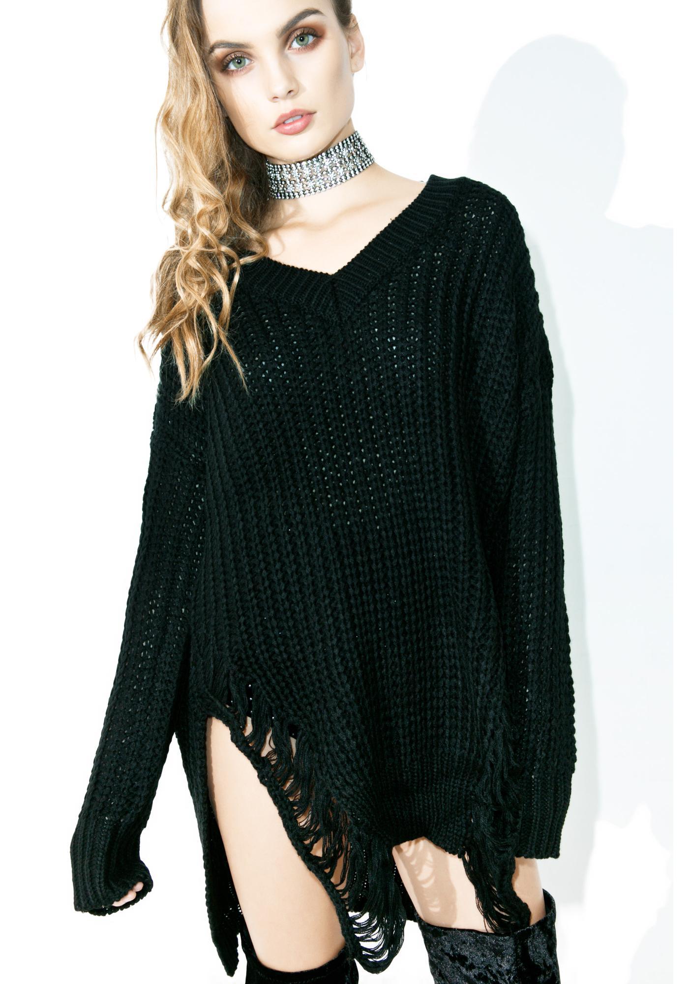 Stand Back Shredded Pullover