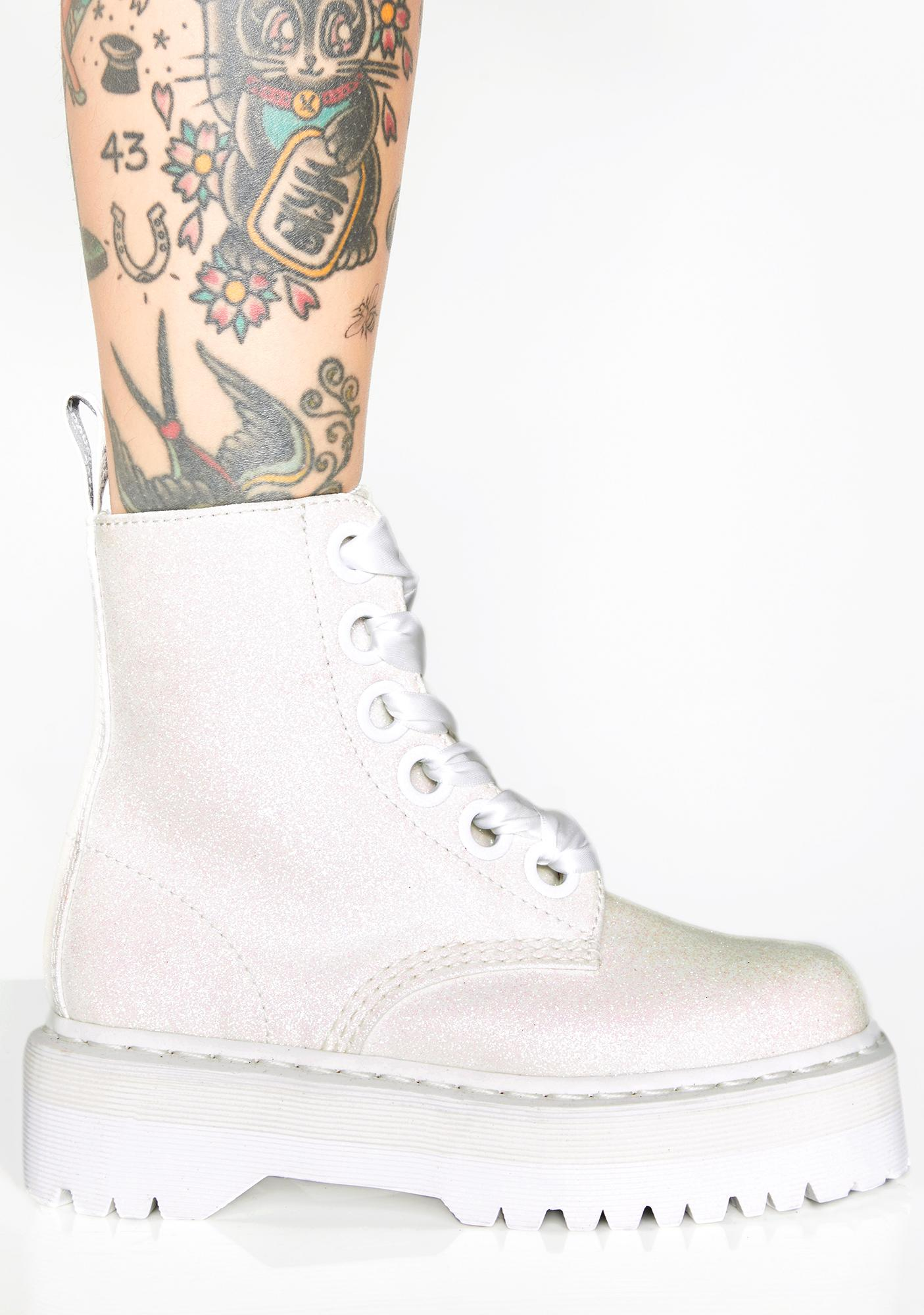 9a5049e64 Dr. Martens Pure Molly Glitter Boots | Dolls Kill