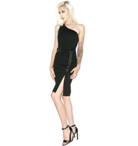 Glamorous Strip Tease Lace Up Dress
