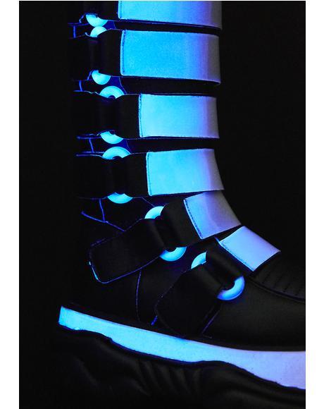Cyber Neptune UV Reactive Platform Boots