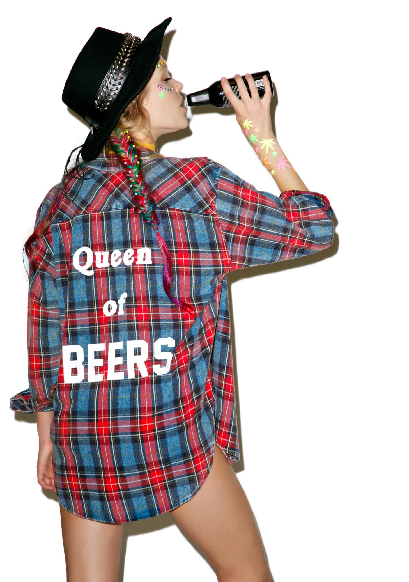 The Laundry Room Queen Of Beers Flannel