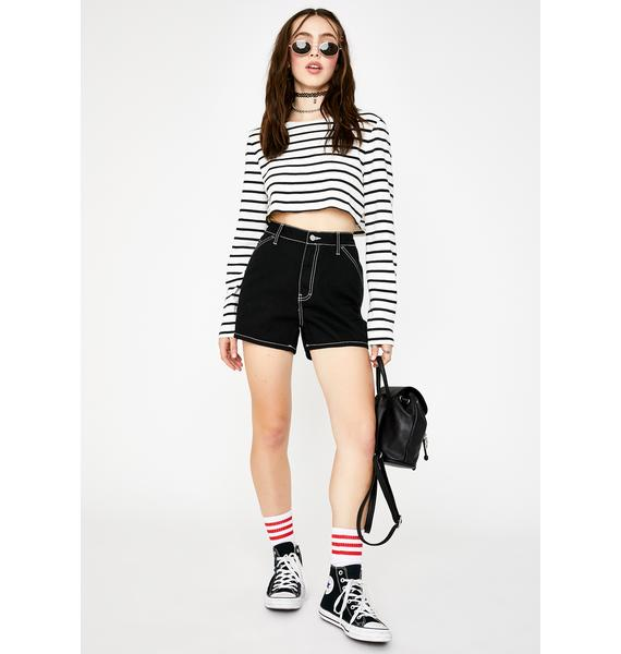 Dickies Girl Black High Rise Carpenter Shorts