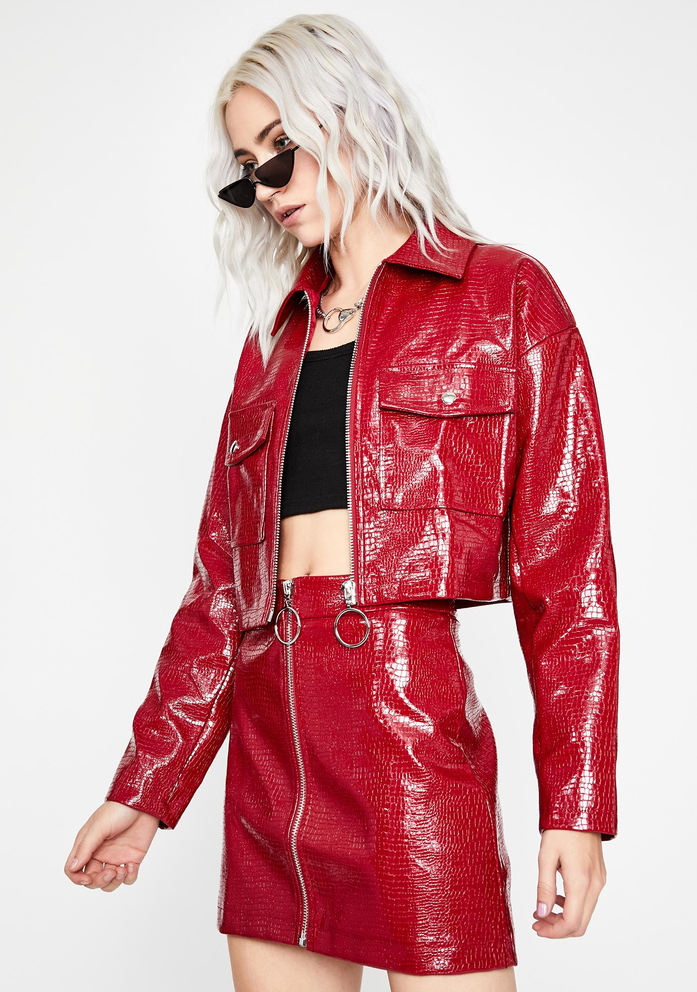 Lethal Cherry Patent Jacket