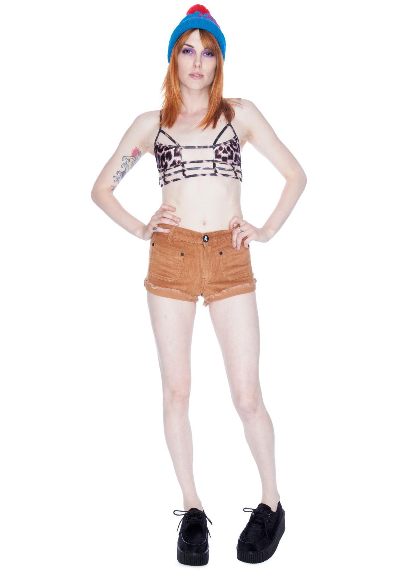 One Teaspoon Cord Sailors Shorts