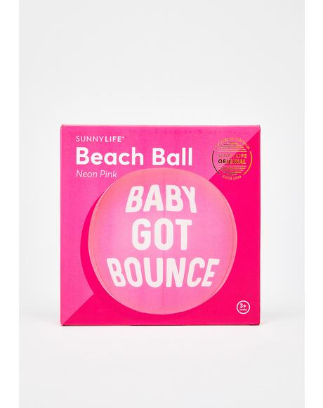 Baby Got Bounce Beach Ball