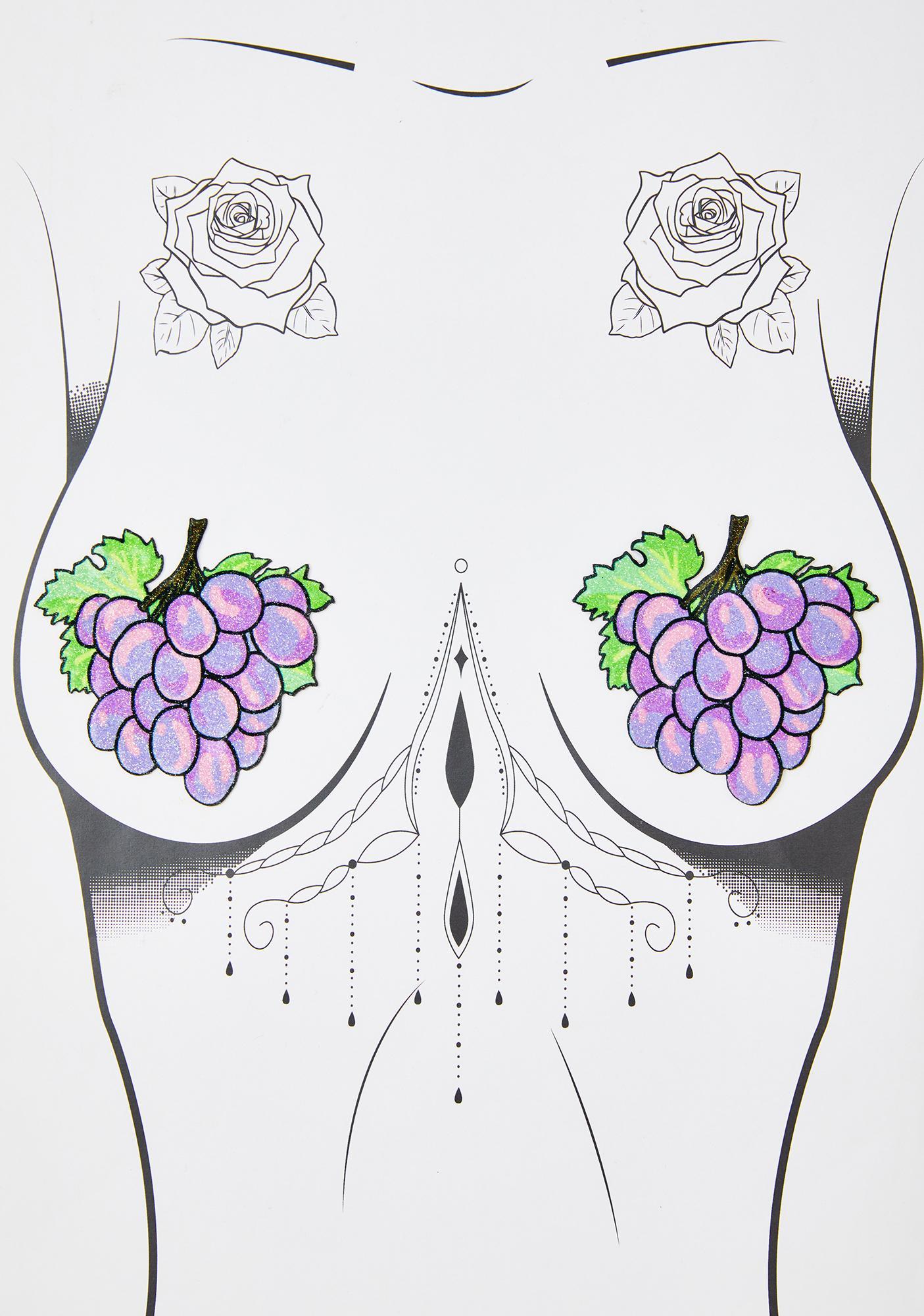 Neva Nude Grape Glitter Pasties