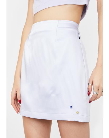Lavender Double Rhinestone Silky Skirt