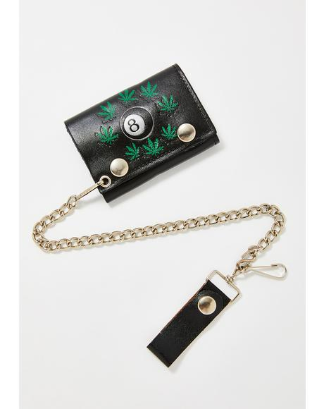 Weed & 8 Ball Chain Wallet