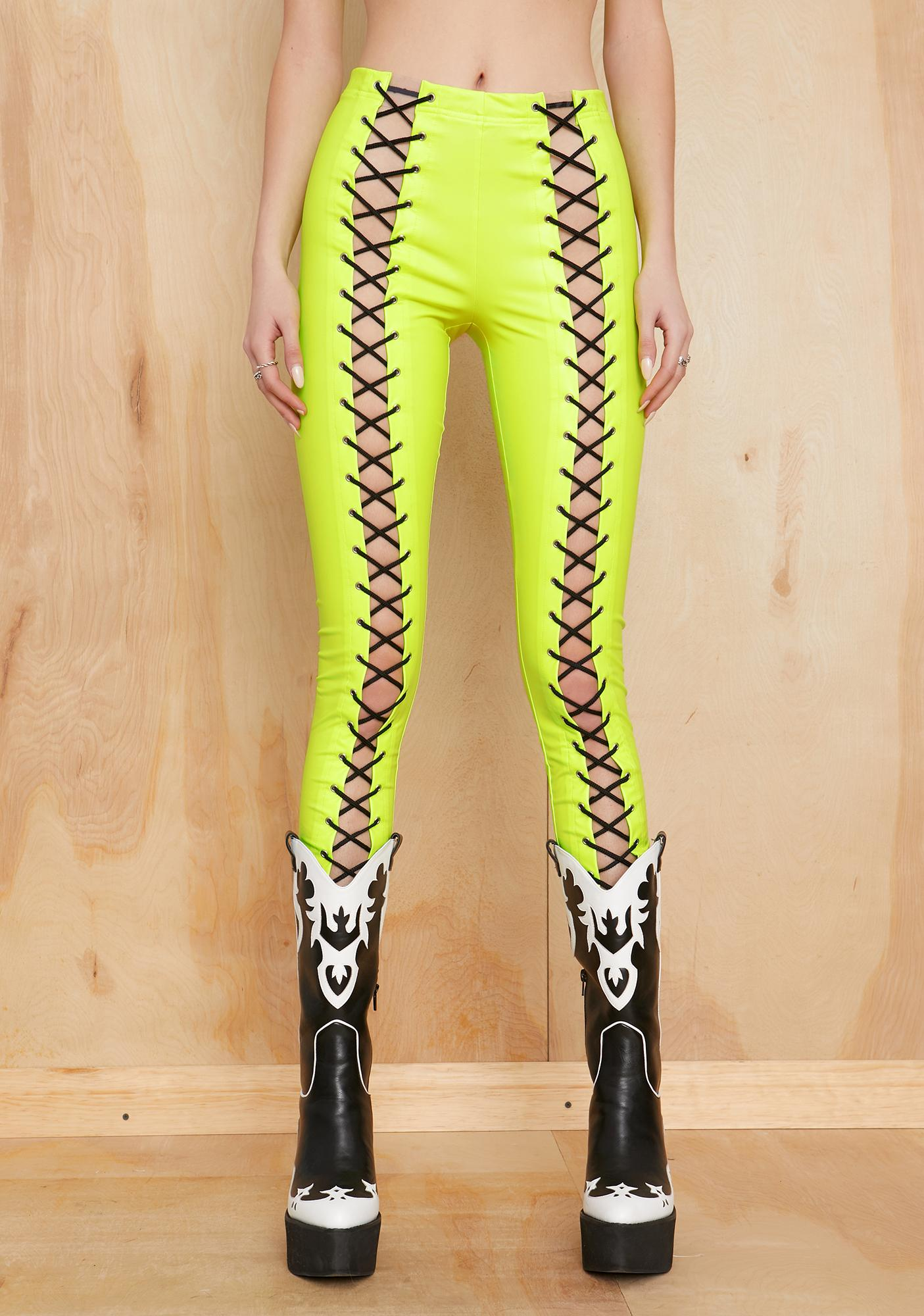 Current Mood Regrets Only Lace-Up Leggings