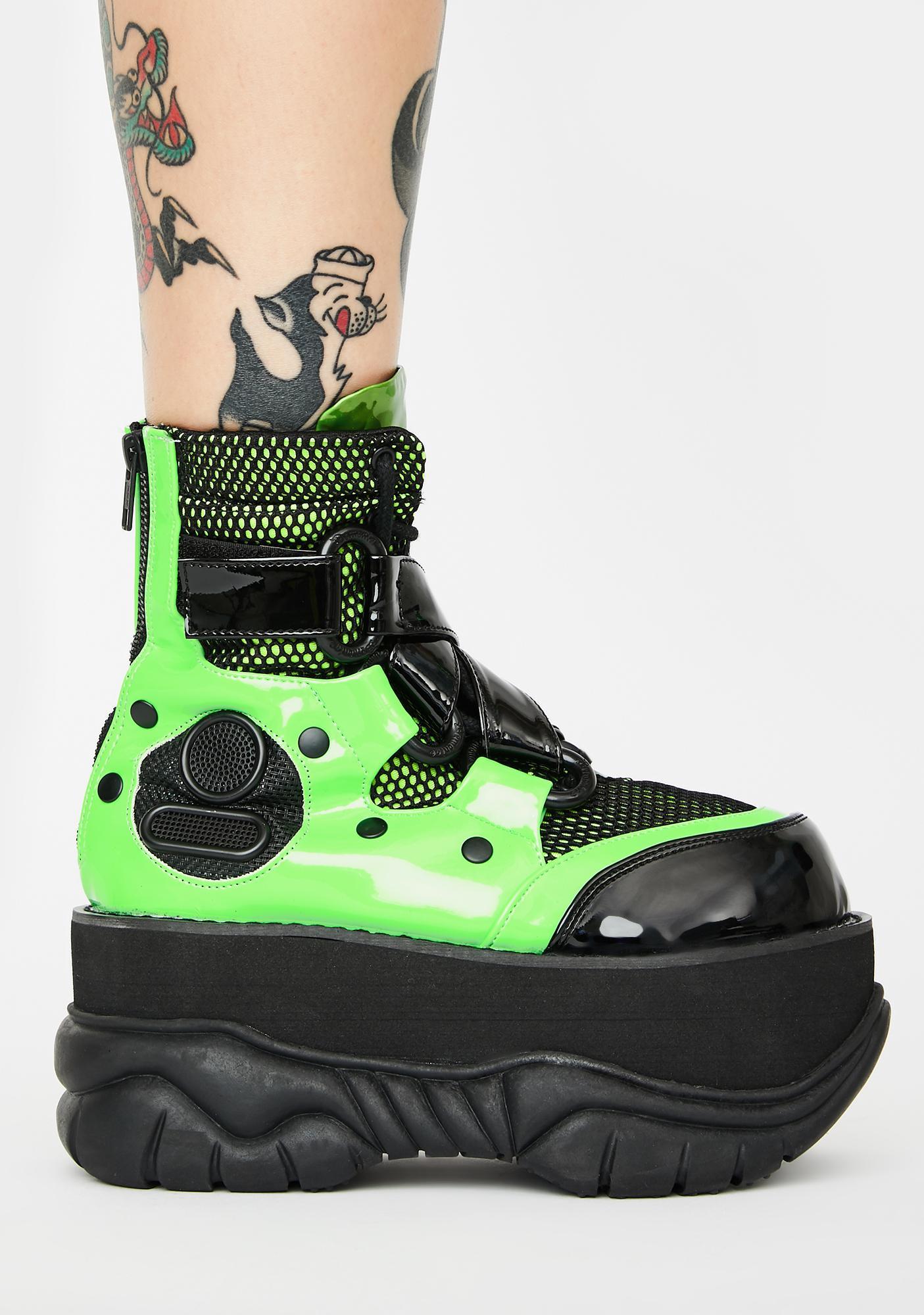 Demonia Toxic New Hacker UV Platform Boots