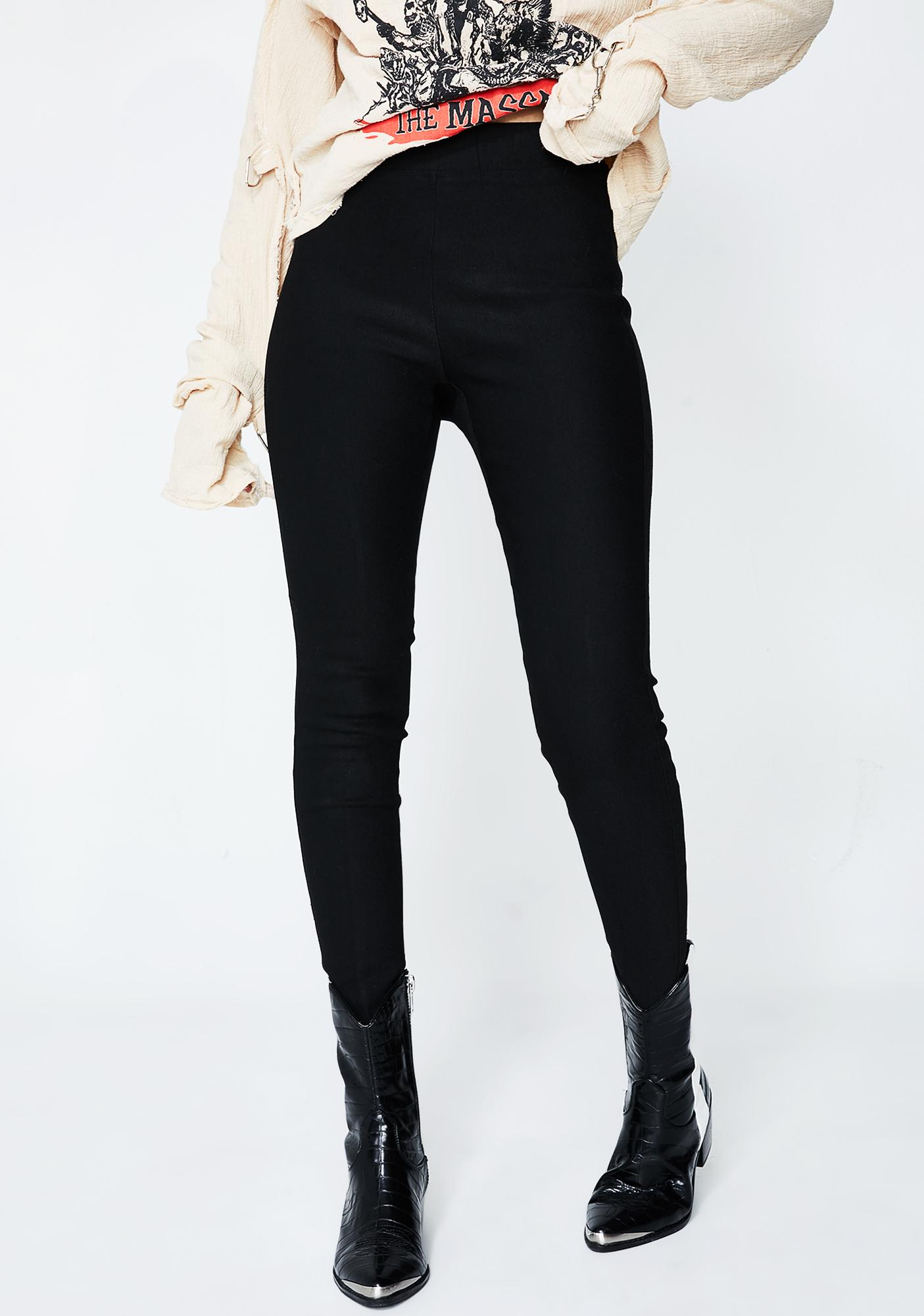 Brand-new Black Stirrup Leggings | Dolls Kill JF27