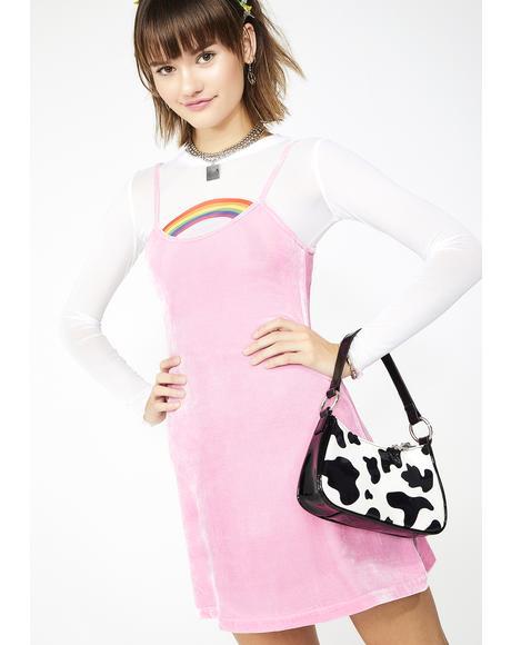 Cutie In Command Velvet Dress