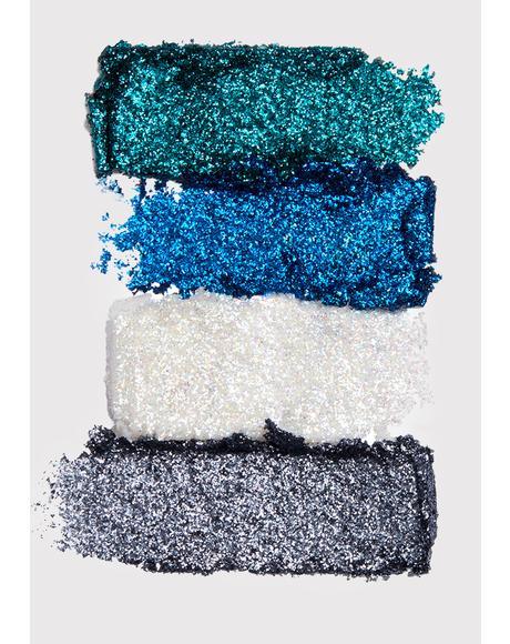 Glacier Glitter Goals Cream Quad Palette
