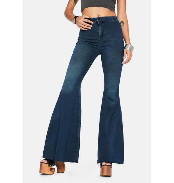 Free People Just Float On Denim Flare Jeans