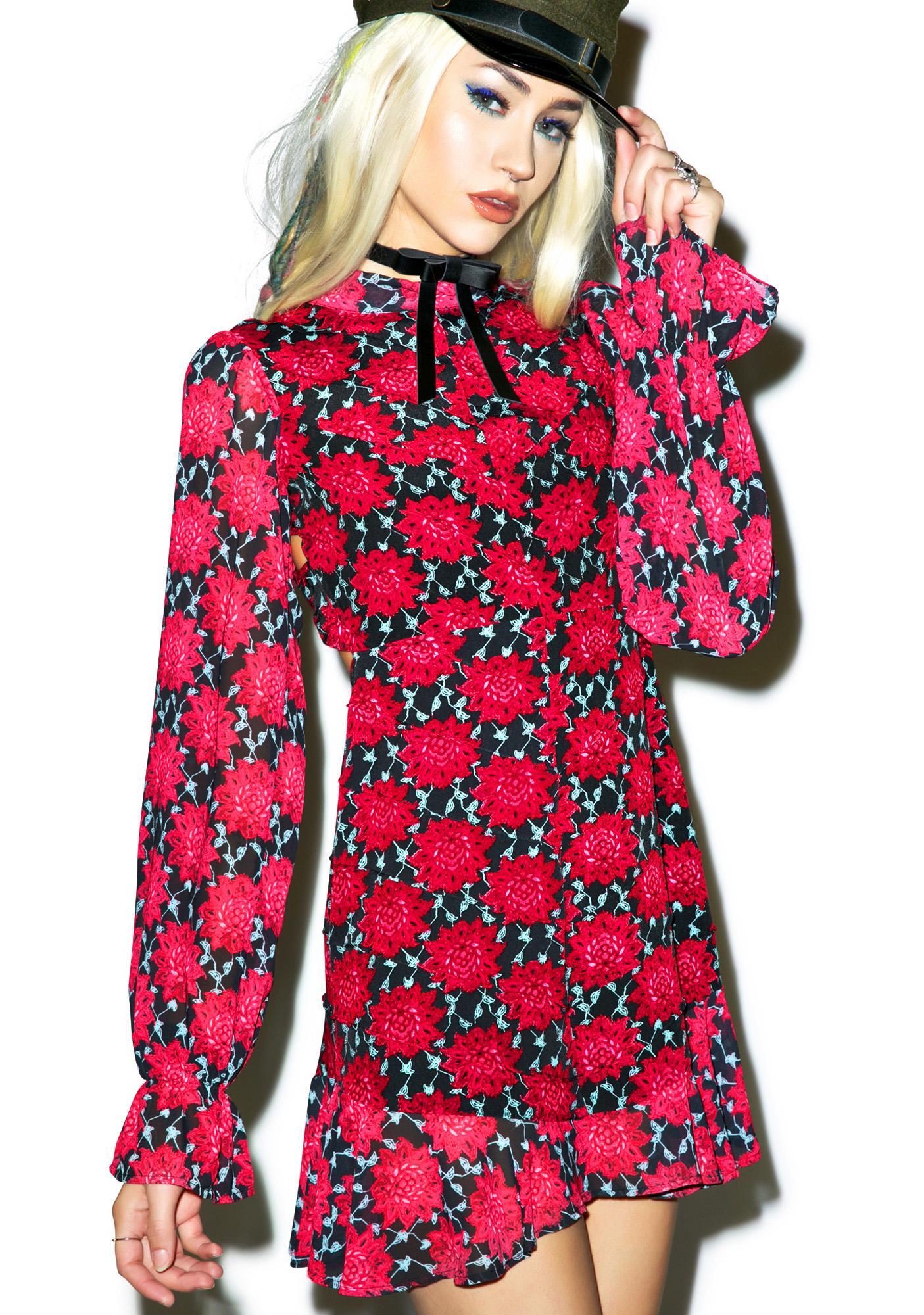 For Love & Lemons Clover Mini Dress