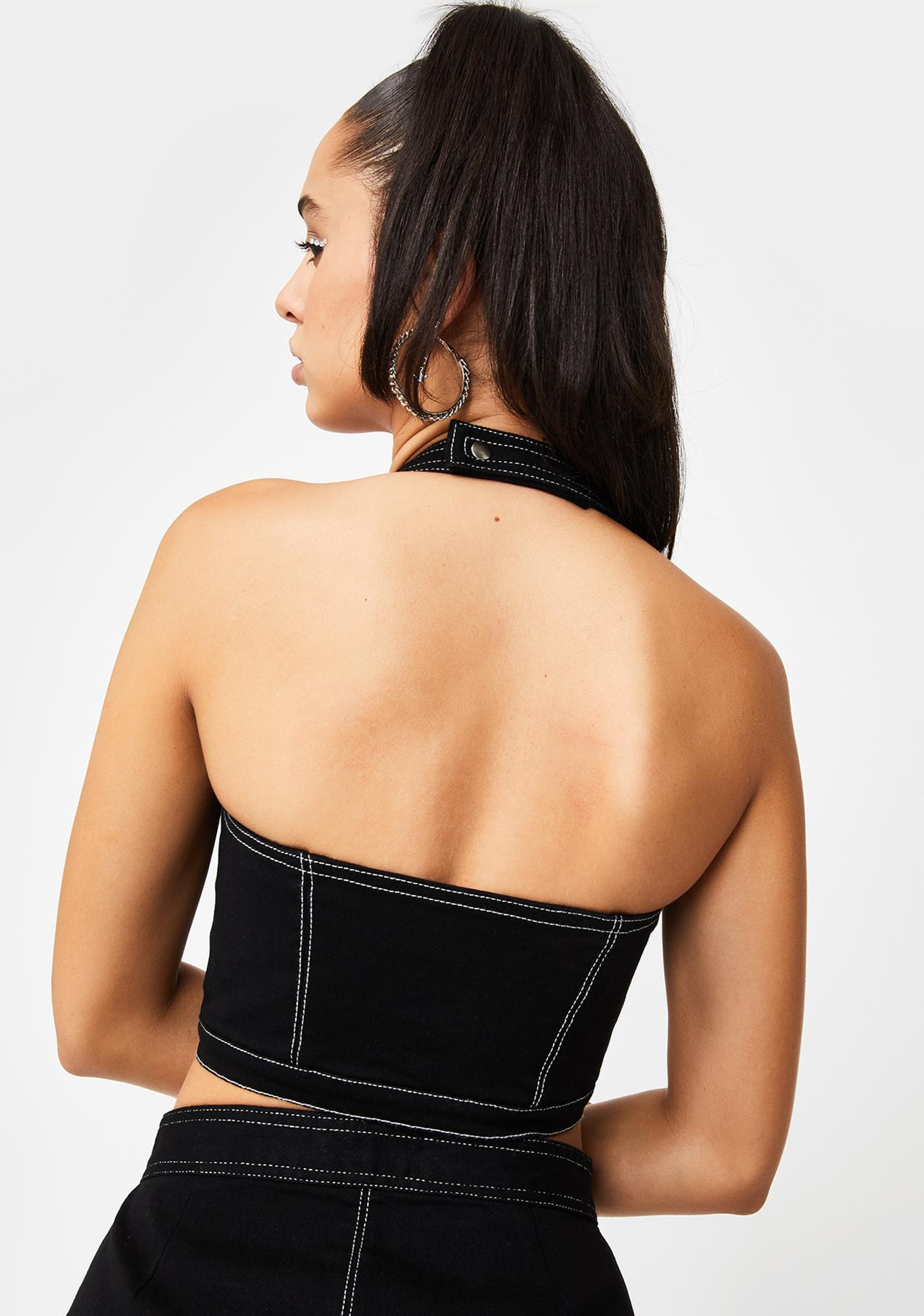 Poster Grl Million Dollar Baller Halter Top