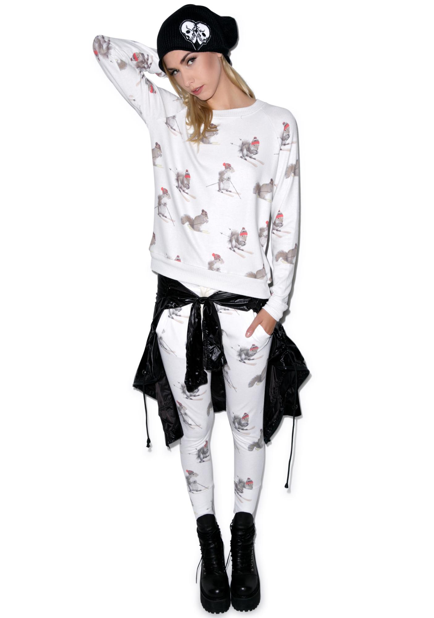 All Things Fabulous Squirrel Raglan Cozy Jumper