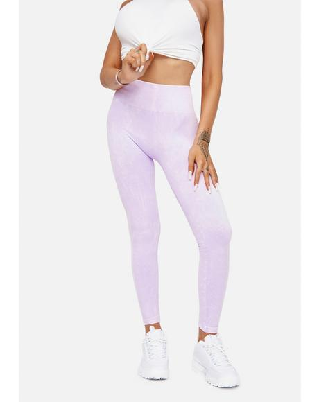 Lavender Put The Werk In Vintage Wash Leggings