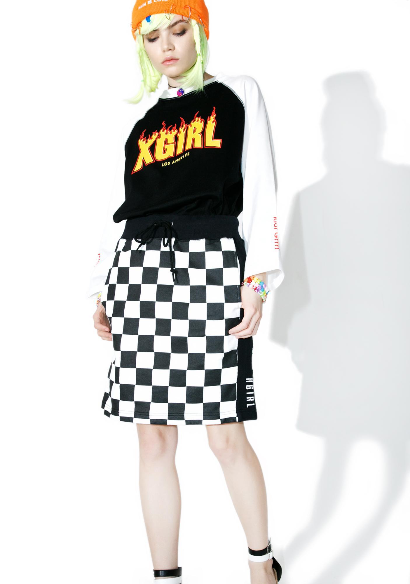 x-Girl Checkered Sweat Skirt