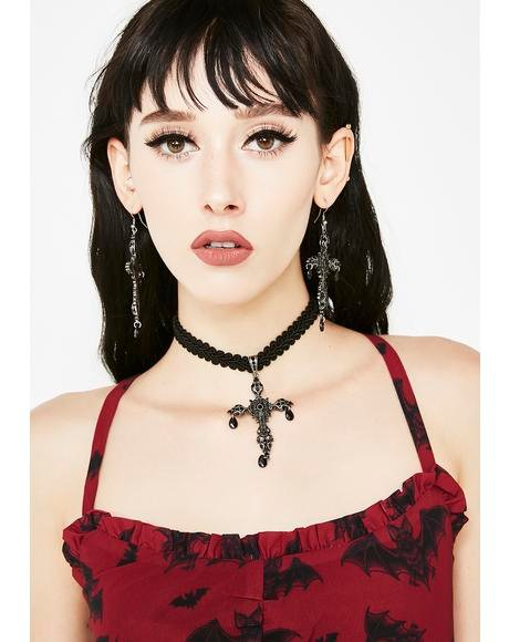 Silent Prayerz Cross Choker