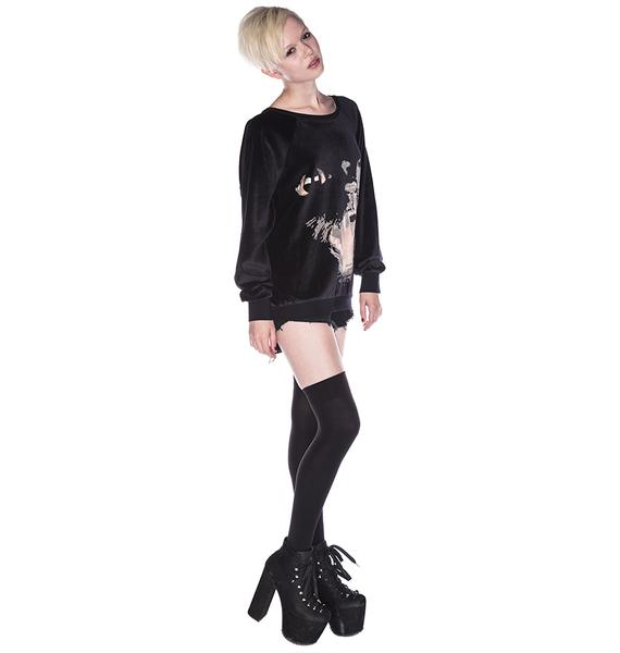 Wildfox Couture Panther Barcelona Pullover