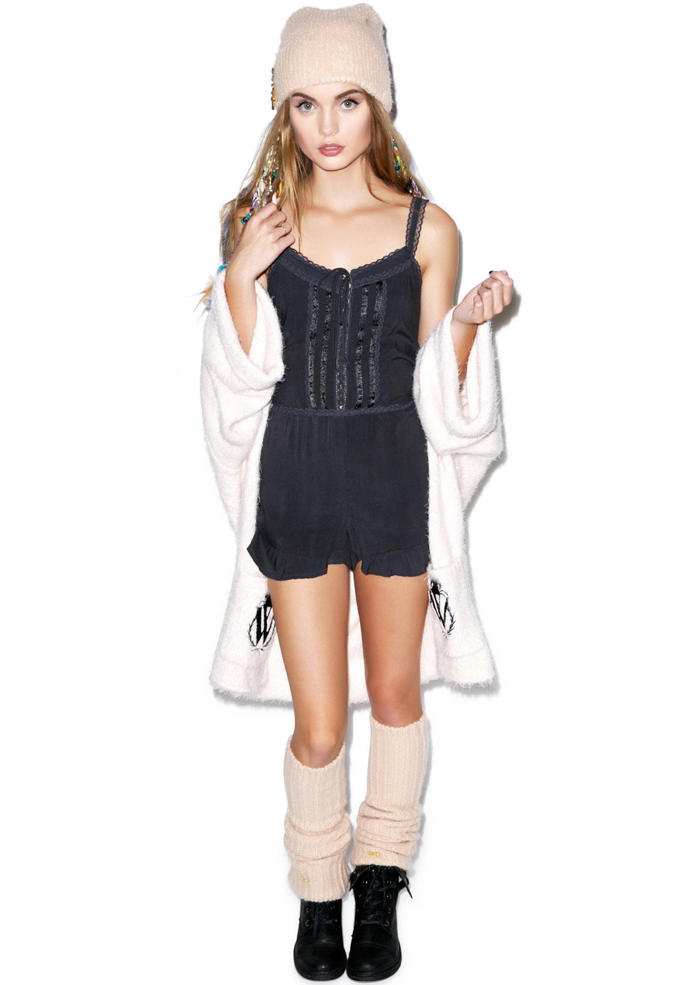Wildfox Couture Night Storm Ruffle Romper