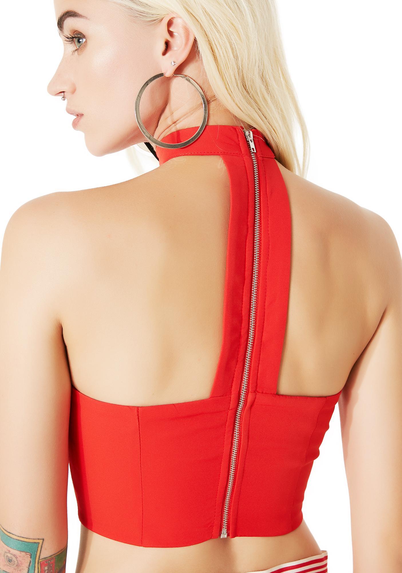 Hot Model Behavior O-Ring Choker Top