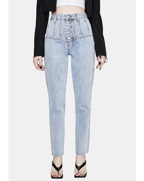 Siren Tapered High Waist Jeans