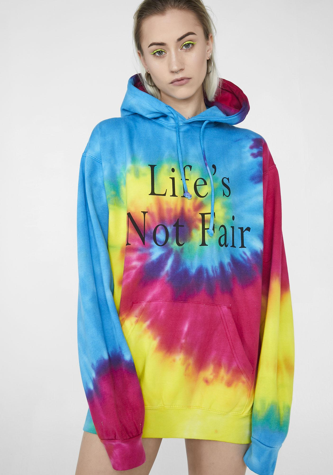 Illustrated People Life's Not Fair Hoodie
