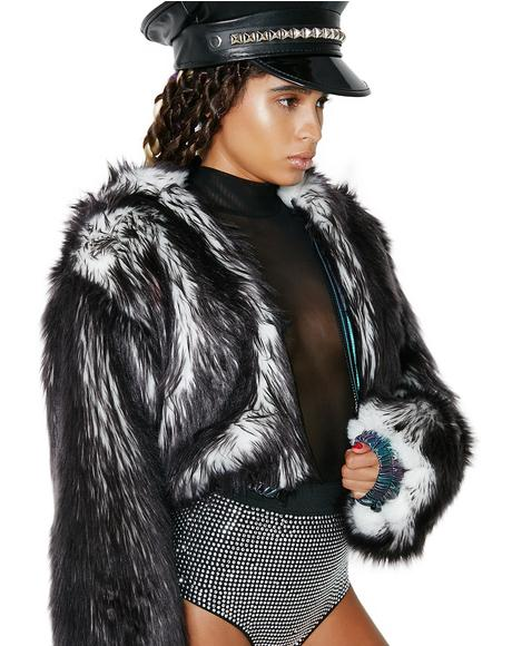 Volcanic Light-Up Faux Fur Jacket