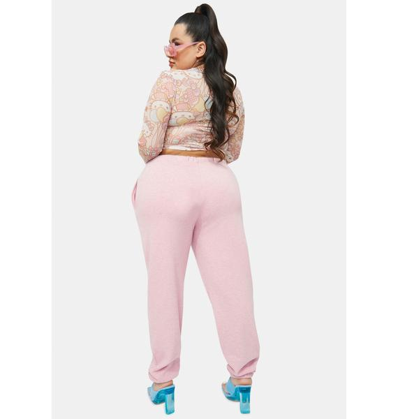 NEW GIRL ORDER Curve Hello Kitty Graphic Logo Joggers