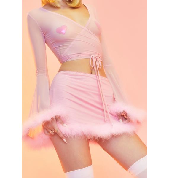 Sugar Thrillz Hollywood Dream Mesh Skirt