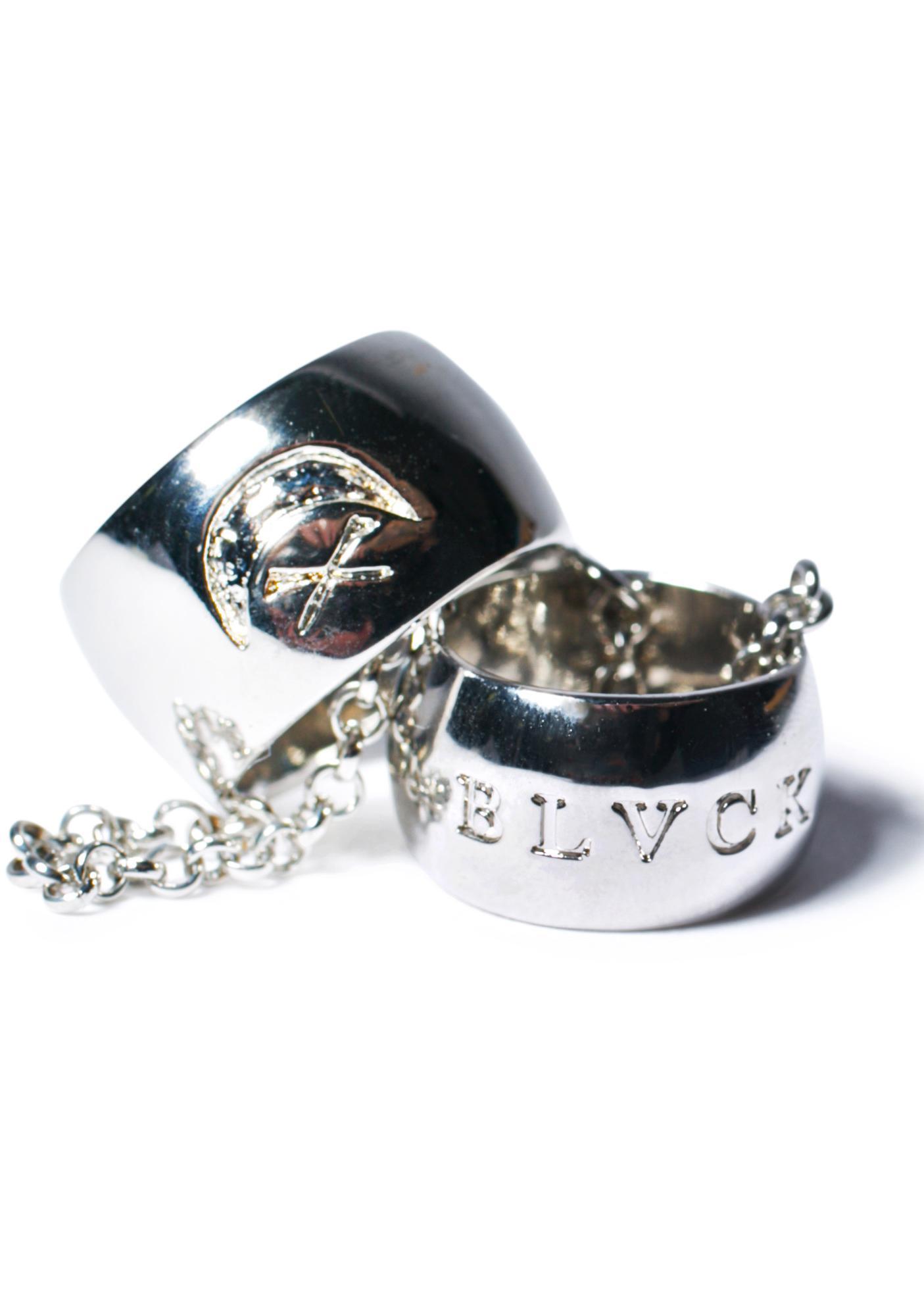 Black Scale Love Slave Ring