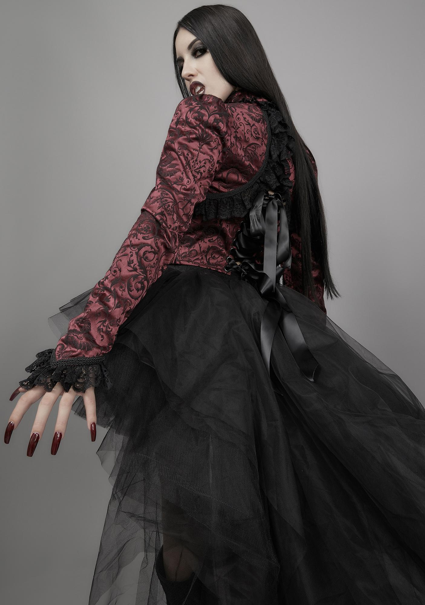 Widow Unfinished Business Brocade Shrug