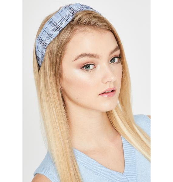 Sky Homework Buddy Plaid Headband