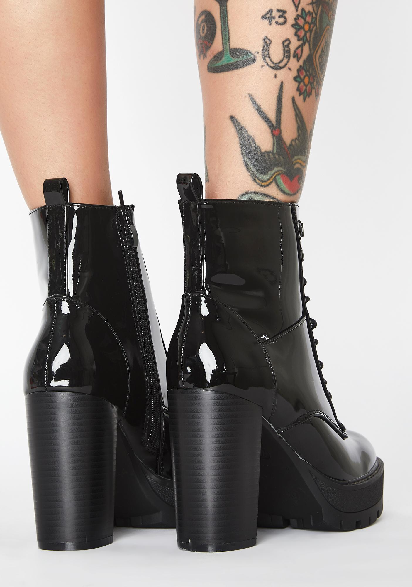 AZALEA WANG Asha Patent Boots