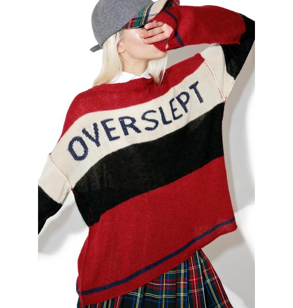 Wildfox Couture Overslept IDK Sweater