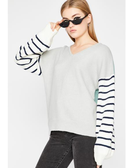 Cozy Life Striped Sweater