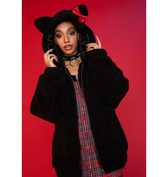 Dolls Kill x Hello Kitty Keep It Cute Teddy Fur Jacket