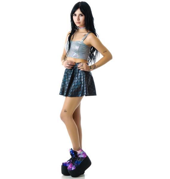 Zara Terez Black Mermaid Skater Skirt